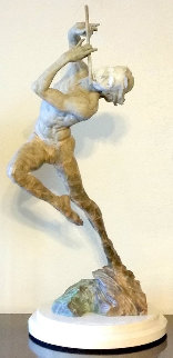 Flutist 1/3 Life Size Bronze Sculpture 2014 32 in Sculpture by Richard MacDonald