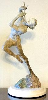 Flutist 1/3 Life Size Bronze Sculpture 2014 32 in Sculpture by Richard MacDonald