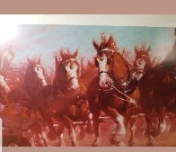 Anheuser - Bush Clydsdales 1981 Limited Edition Print by Richard MacDonald - 4