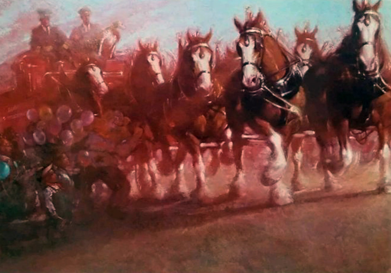 Anheuser - Bush Clydsdales 1981 Limited Edition Print by Richard MacDonald