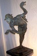Rain Half Life Bronze Sculpture 1996 36 in Sculpture by Richard MacDonald - 1