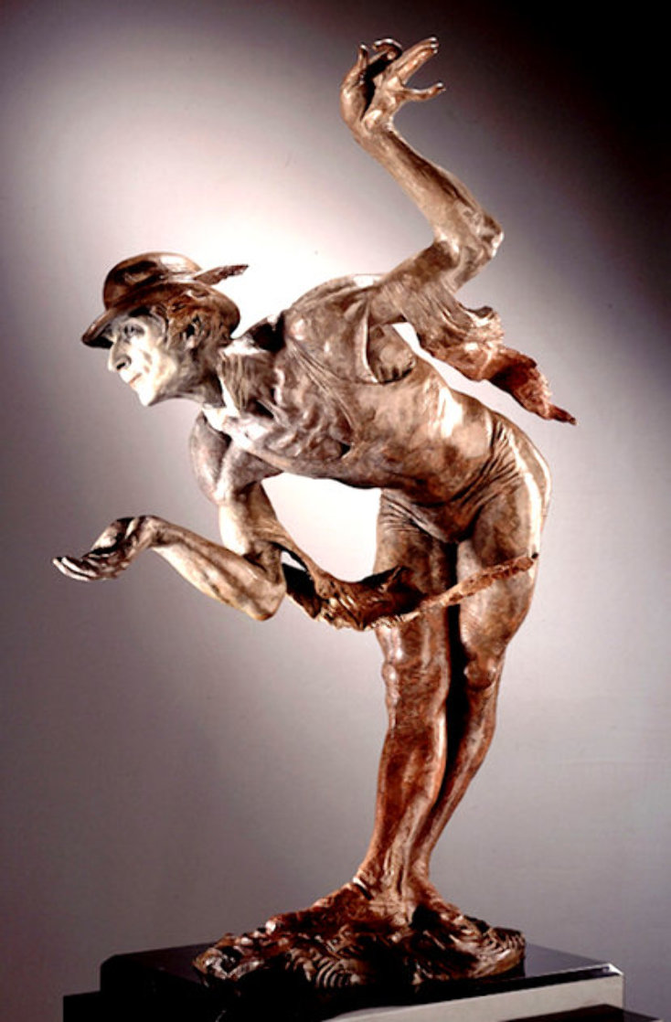Rain Half Life Bronze Sculpture 1996 36 in Sculpture by Richard MacDonald