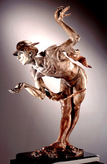 Rain Half Life Bronze Sculpture 1996 36 in Sculpture - Richard MacDonald