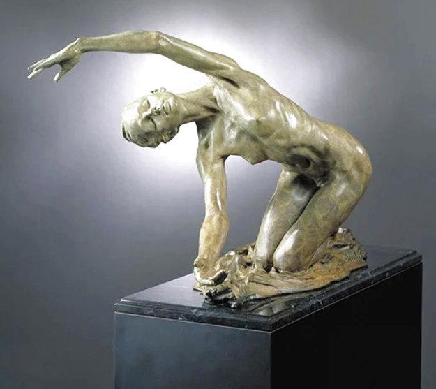 Dawn, The Awakening Bronze 1996 Sculpture 24 in  by Richard MacDonald