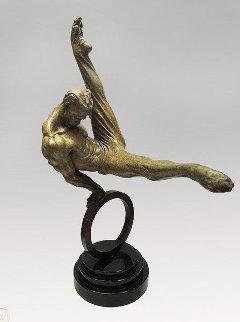 Gymnast 1/3 Life   State I Bronze Sculpture 1995 35 in Sculpture - Richard MacDonald