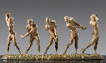 Anatomy of Golf I - V Bronze Sculpture 47 in Sculpture - Richard MacDonald