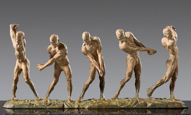 Anatomy of Golf I - V Bronze Sculpture 47 in Sculpture by Richard MacDonald