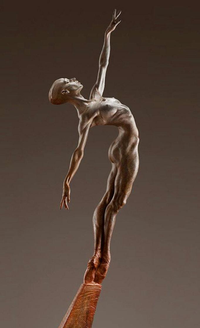 Allonge Female 2/3 Life -Size - Bronze Sculpture 2012 63 in  Sculpture by Richard MacDonald