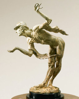 Rain, Atelier Bronze Sculpture 2006 16 in Sculpture - Richard MacDonald
