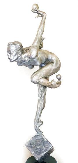 Blind Courage Third Life Bronze and Platinum Sculpture 2018 30 in Sculpture by Richard MacDonald