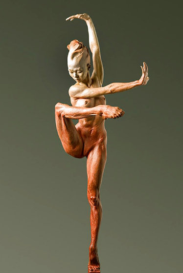 Contemporary Nude Spire IV: Clarity Bronze Sculpture 2015 37 in Sculpture by Richard MacDonald
