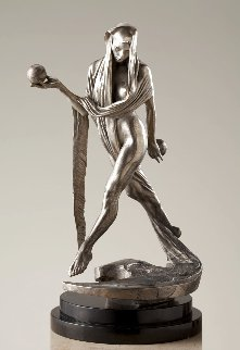Nightfall - Atelier Bronze Sculpture With Platinum Patina 2018 15 in Sculpture - Richard MacDonald