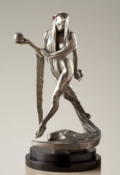Nightfall - Atelier Bronze Sculpture With Platinum Patina 2018 15 in Sculpture by Richard MacDonald