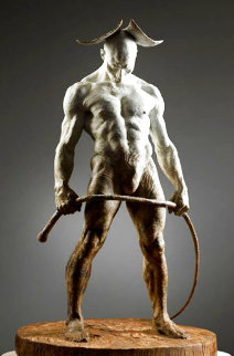 Bullwhip Bronze Sculpture 2009 24 in Sculpture - Richard MacDonald