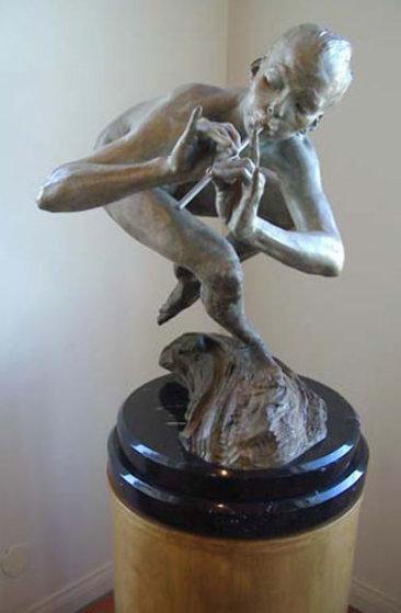 Piper 1/2 Life Size Nude Bronze Sculpture 1999 Sculpture by Richard MacDonald