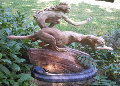 Diana and the Coursing Cheetahs Bronze Sculpture 40 in Sculpture - Richard MacDonald