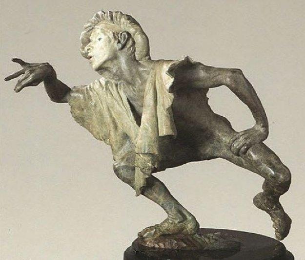 La Fuite Du Temps Bronze Sculpture Sculpture by Richard MacDonald