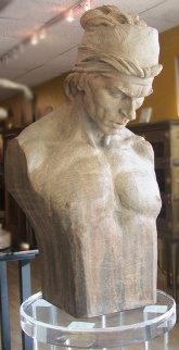Nureyev Bust, Bronze Sculpture 33 in Sculpture by Richard MacDonald