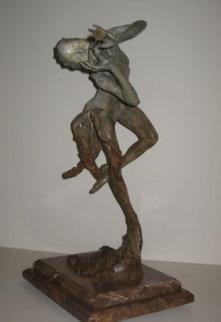 Trumpeter Bronze Sculpture 1993 Sculpture - Richard MacDonald
