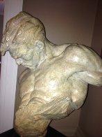 Gymnast Bust Bronze 1/2 Life Sculpture 1995 Sculpture by Richard MacDonald - 4
