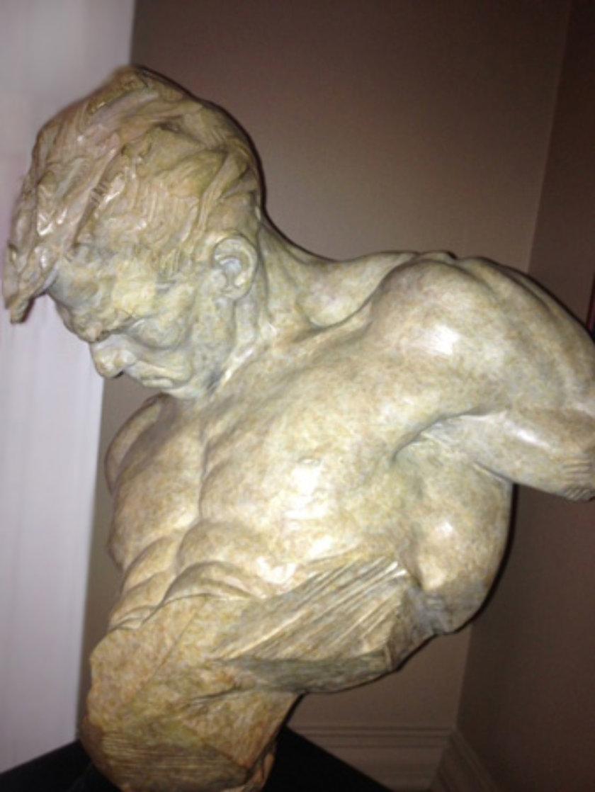 Gymnast Bust Bronze 1/2 Life Sculpture 1995 Sculpture by Richard MacDonald