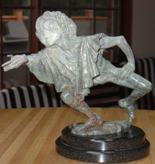 La Fuite Du Temps Bronze Sculpture 16 in Sculpture by Richard MacDonald