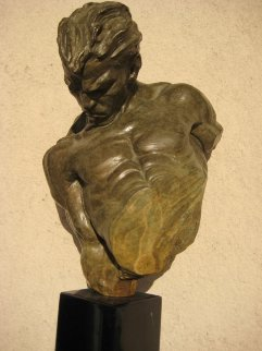 Gymnast Bronze Bust Sculpture 1995 Sculpture - Richard MacDonald