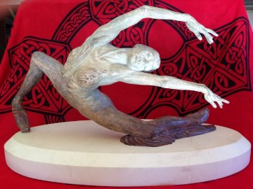 Study For Swan Lake Bronze Sculpture 2009 Sculpture - Richard MacDonald