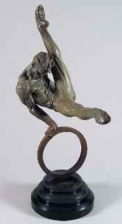 Gymnast 1/2 Life Size Bronze Sculpture 1999 51 in Sculpture by Richard MacDonald