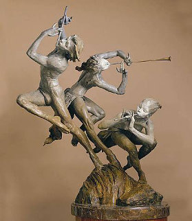 Joie De Vivre 1/4 Life Size Bronze Sculpture 1996 23 in  Sculpture - Richard MacDonald