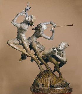 Joie De Vivre 1/4 Life Size Bronze Sculpture 1996 23 in  Sculpture by Richard MacDonald