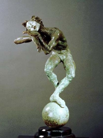 Sleep Marcel Sleep 1/4 Life Size 1998 16 in Sculpture by Richard MacDonald