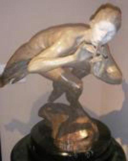 Piper Draped 1/2 Life Size Bronze Sculpture 1999 30 in Sculpture by Richard MacDonald
