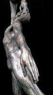 Penche Pressage 41 x 18 x 10.5  Platinum  2010 Sculpture by Richard MacDonald - 3
