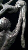 Penche Pressage 41 x 18 x 10.5  Platinum  2010 Sculpture by Richard MacDonald - 5