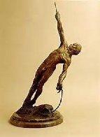 Man on a Rope Bronze Sculpture 2002 36 in Sculpture by Richard MacDonald - 1