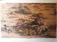 Score to Settle, Disturbed Jumbo, Reclining Cheetahs 1984, Set of 3 Prints Limited Edition Print by Rob MacIntosh - 3