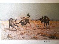Score to Settle, Disturbed Jumbo, Reclining Cheetahs 1984, Set of 3 Prints Limited Edition Print by Rob MacIntosh - 0