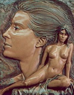 Envision Bronze Sculpture 1994 Sculpture by Bill Mack