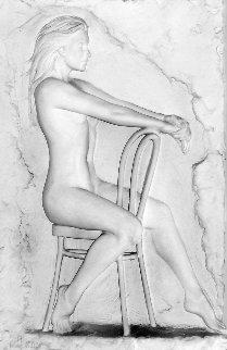Solitude Bonded Sand Sculpture 1988 42 in Sculpture by Bill Mack