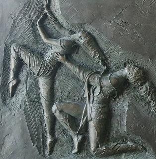 La Pari Suite 1 and 2 Bronze Sculpture 1985 24x22 Sculpture - Bill Mack