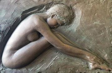 Serenity Bronze Sculpture 1986 50x39 Sculpture - Bill Mack