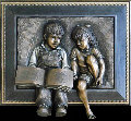Sharing Mixed Metals Sculpture AP 2001 30 in Sculpture - Bill Mack