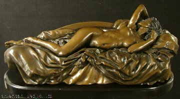 Tranquility Bronze Sculpture 1994 65x26 Sculpture by Bill Mack