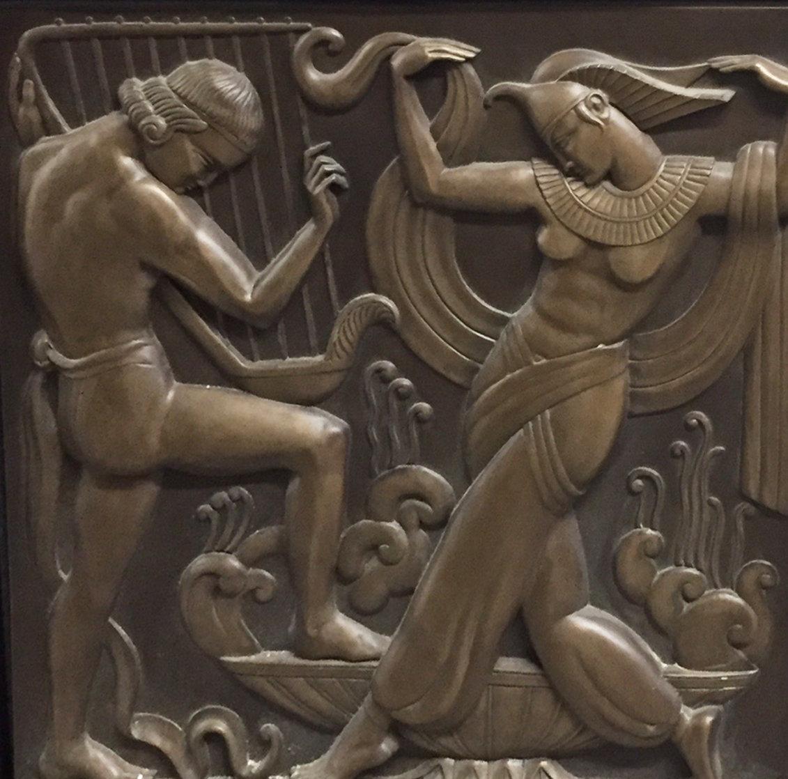 Deco Serenade  Bonded Bronze Sculpture 1986 37x37 Sculpture by Bill Mack