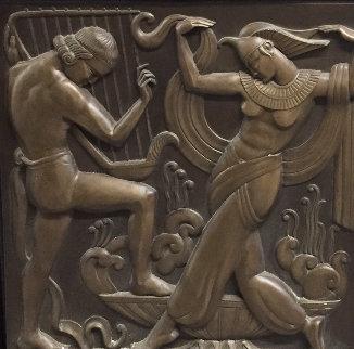 Deco Serenade  Bonded Bronze Sculpture 1986 37x37 Sculpture - Bill Mack