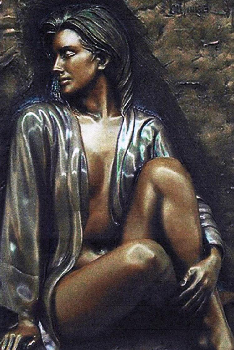 Dimensional Adorned  Bronze Sculpture 2000 37 in Sculpture by Bill Mack