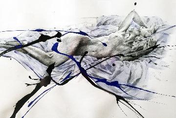 Tranquility Blue Silk 2004 37x49 Original Painting by Bill Mack