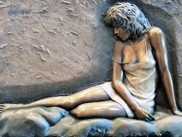 Desiree Bonded Bronze Sculpture 2004 28x38 Sculpture - Bill Mack