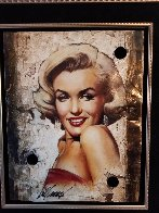 Untitled Portrait of Marilyn Monroe Hollywood Sign 2014 27x24 Limited Edition Print by Bill Mack - 2